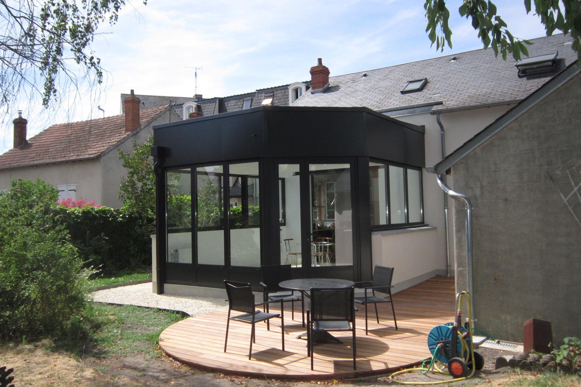 Extension, terrase vitrée