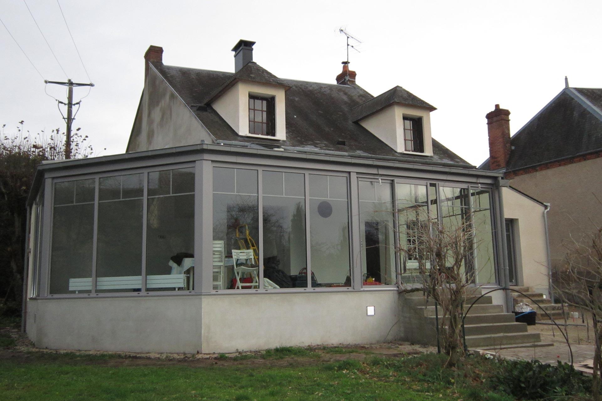 Extension, la grande veranda