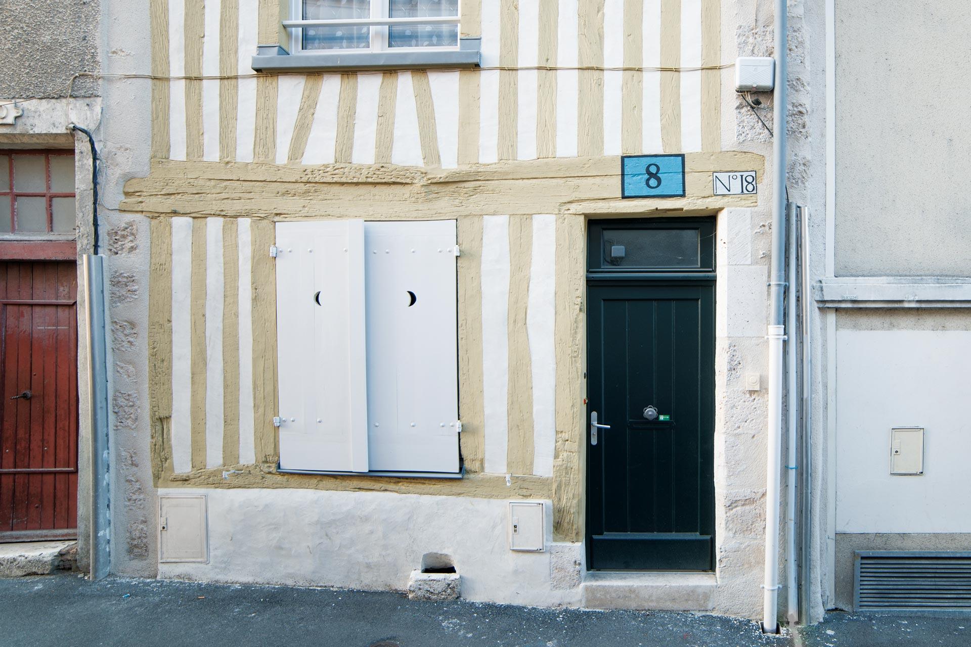 Ravalement façade à pan de bois